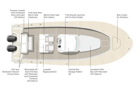 Southport 292 TE Deck Plan