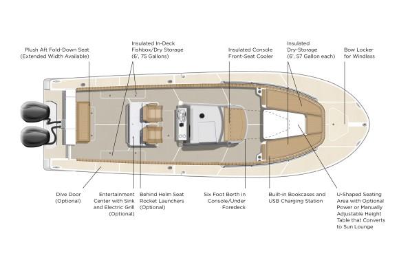 Southport 33 FE Deck Plan