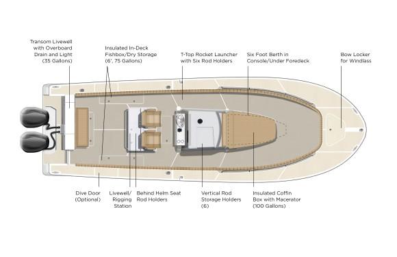 Southport 33 TE Deck Plan